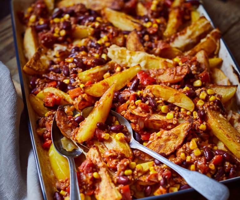 Grünkern-Chili-Cheese-Kartoffeln