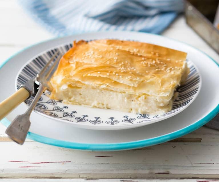Tarta de queso feta y pasta filo  (Tiropita)