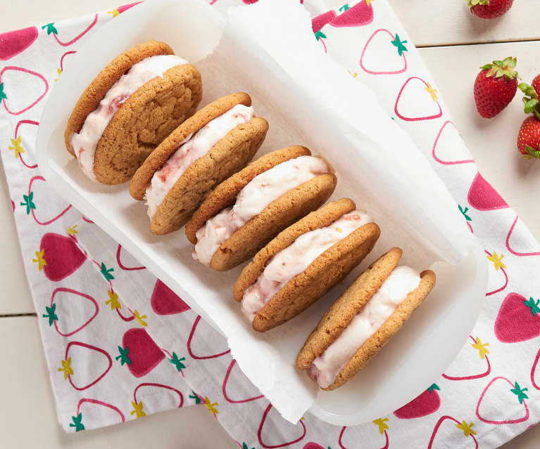 Almond Butter and Jam Ice Cream Sandwiches