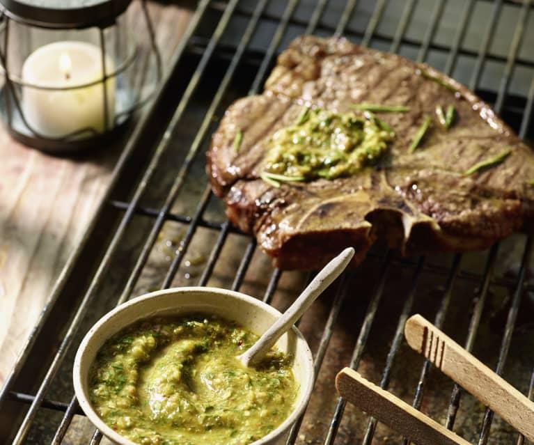 Chimichurri mit Chili - argentinische Steaksauce