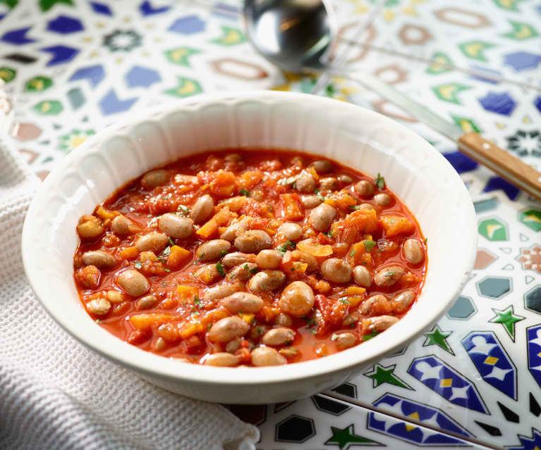Wachtelbohnen in Tomatensauce - Zeytinyağlı Barbunya
