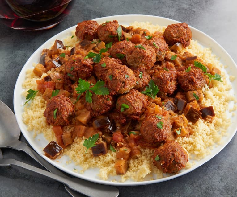 Moroccan Lamb and Eggplant with Couscous