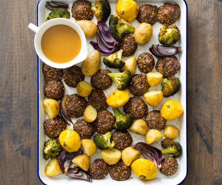 Sage and buckwheat stuffing balls