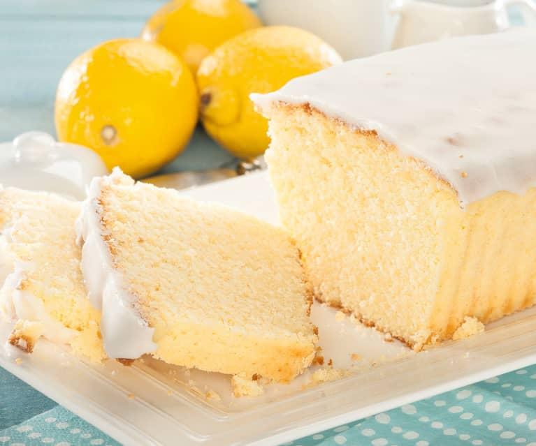 Cake de limón con glaseado blanco