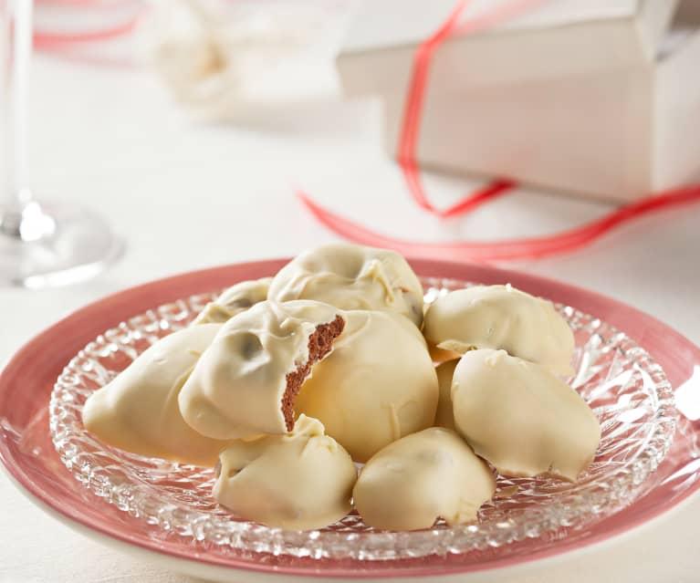 Rocas de chocolate blanco