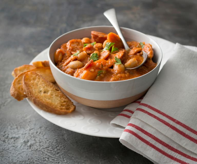 Sausage and butter bean winter stew