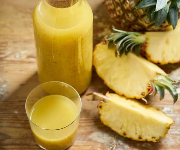 Sumo de ananás e hortelã (longa duração)