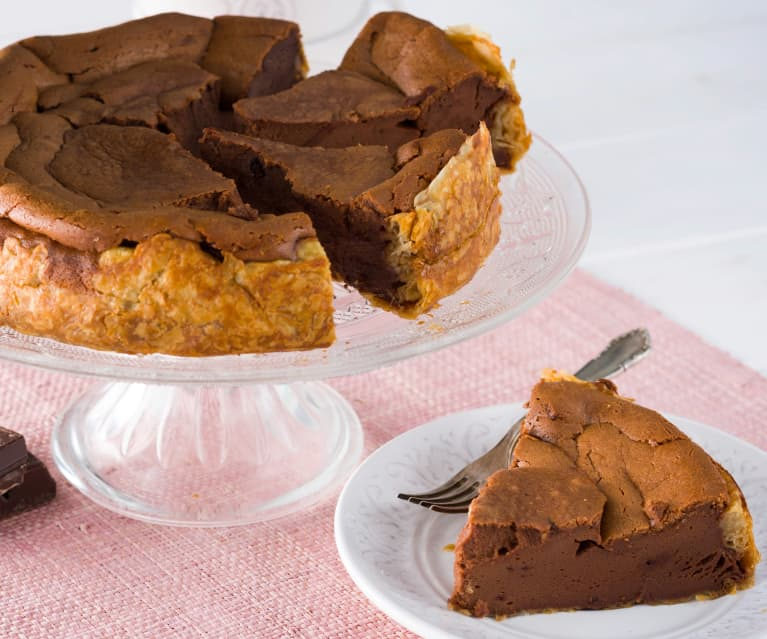 Cheesecake de mousse de chocolate