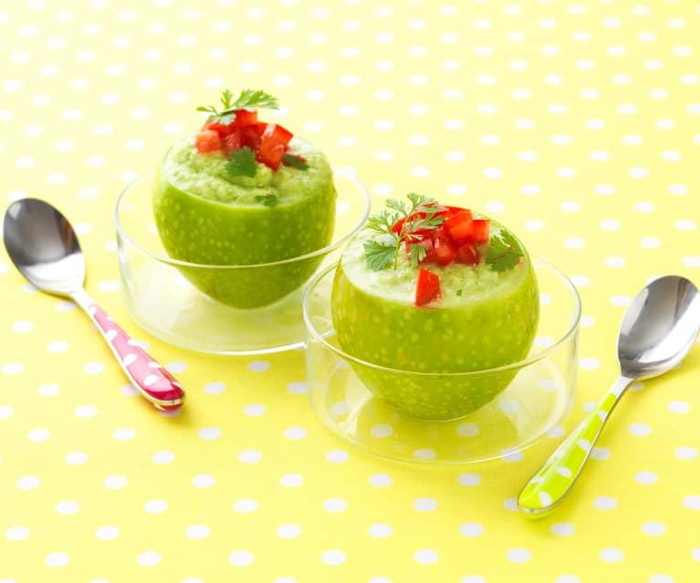 Soupe de pommes vertes