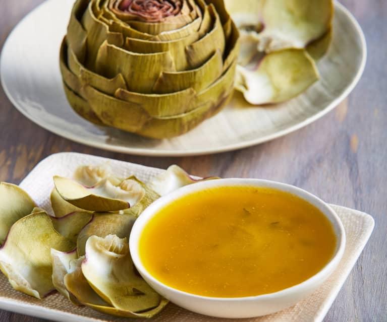 Artichokes with Garlic Tarragon Butter