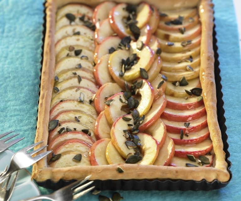 Apfelkuchen mit Kürbiskernen