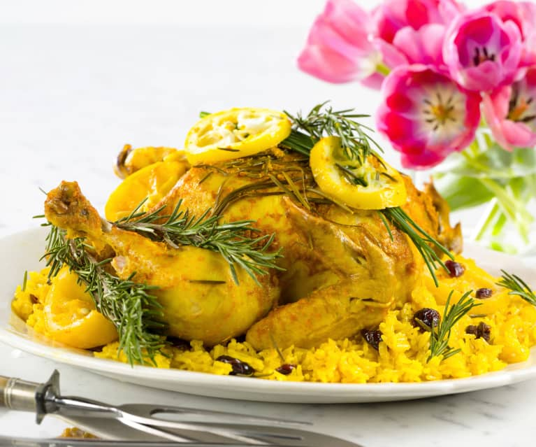 Lemon Garlic Chicken and Rice