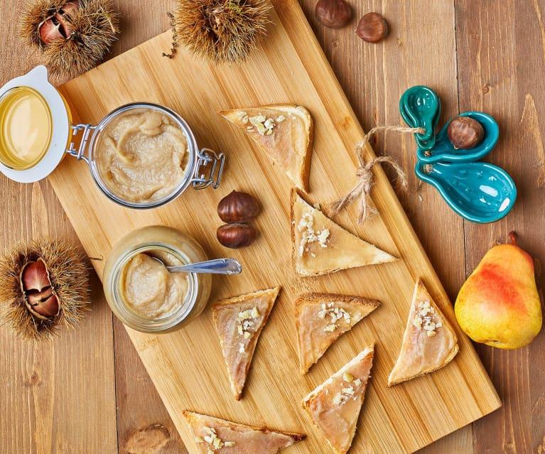 Composta di castagne, pere e vaniglia