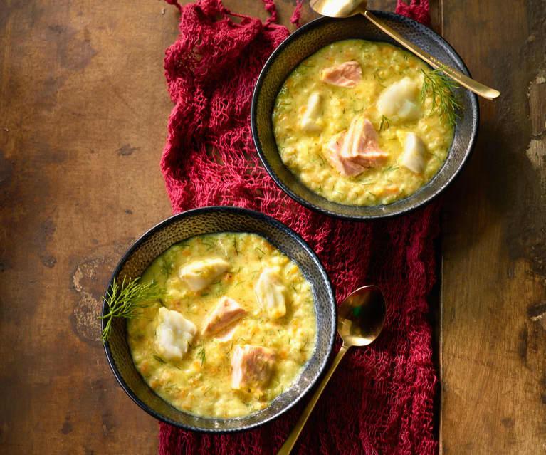 Fischsuppe mit Bulgur - Bulgurlu Balık Çorbası