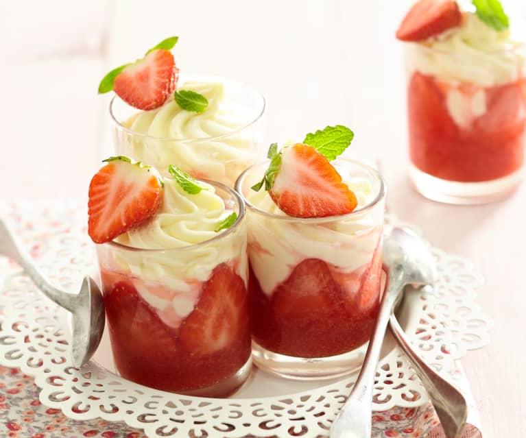 Verrine fraise-chocolat blanc