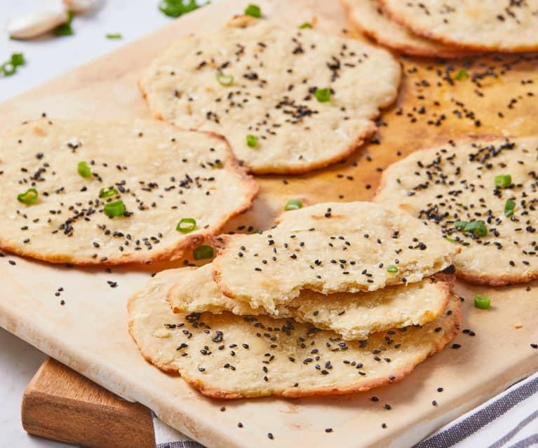 Pan liso y crujiente (Pao de Alho)