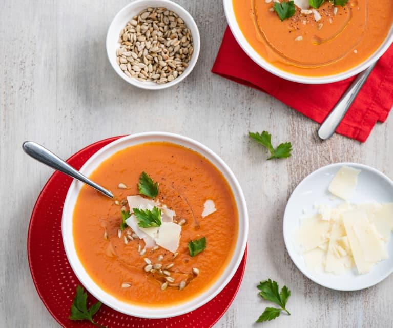 Zupa krem z pomidorów i bananów