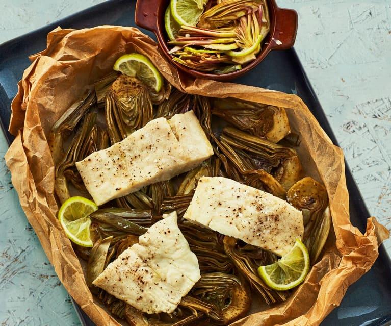 Pesce persico ai carciofi