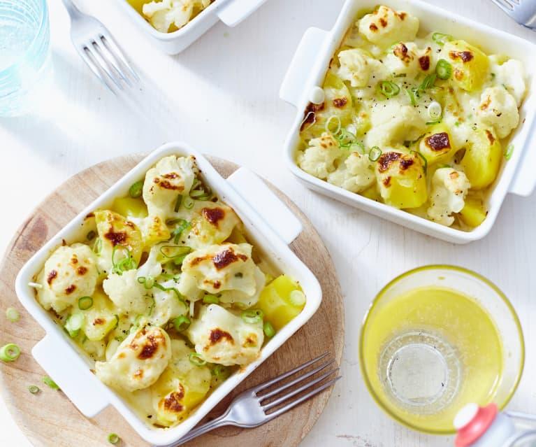 Kartoffel-Blumenkohl-Gratin