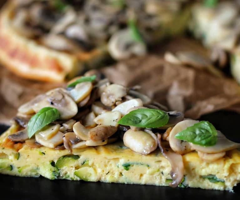 Würziger Bergkäse-Zucchini-Kuchen mit Pilzen