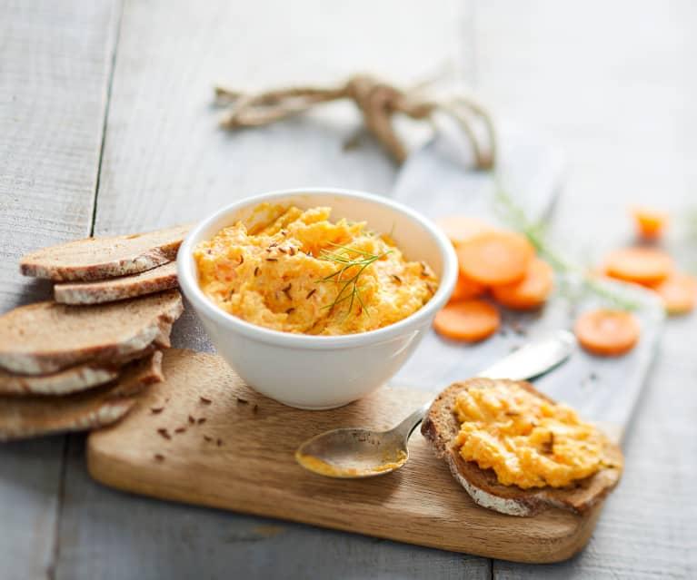 Tartinade de carotte au chèvre et carvi