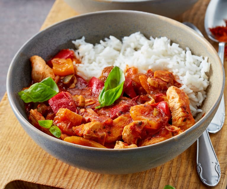Chicken with Peppers and Rice