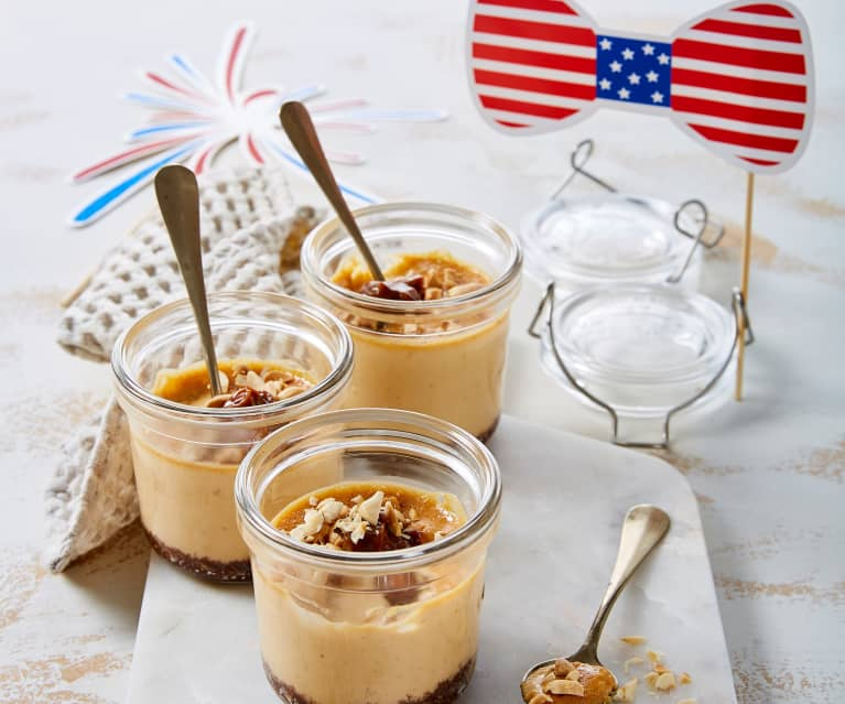 Cheesecake arachidi e caramello