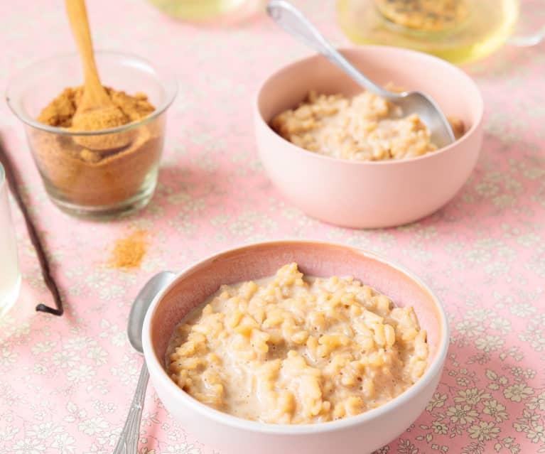 Riz au lait à la vanille (Pour les grands et les tout-petits)