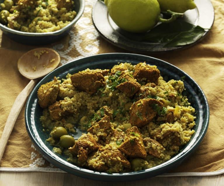 Marocké kuřecí maso s kuskusem