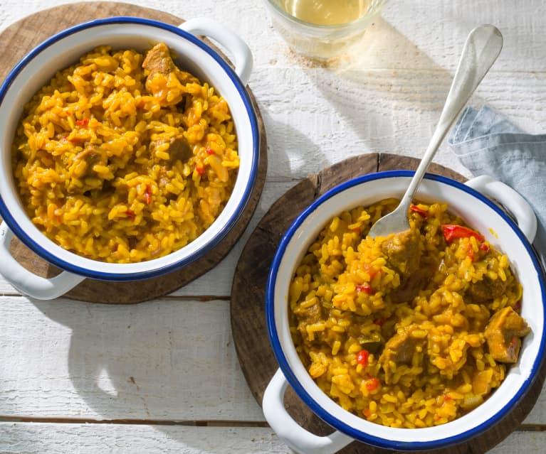 Arroz con carrilleras (Cocción de arroz)