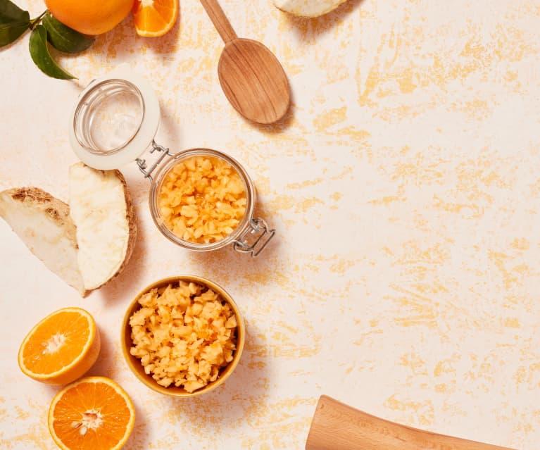 Sellerie mit Orange, wild fermentiert