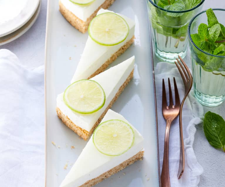 Limetten-Quark-Torte (zuckerfrei)