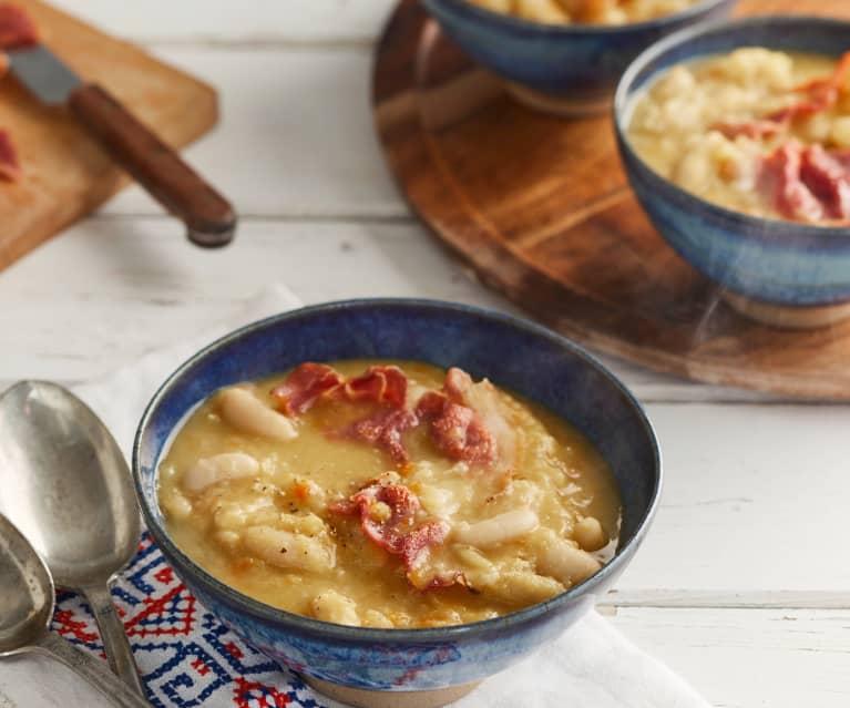 Soupe de mojettes et jambon de Vendée
