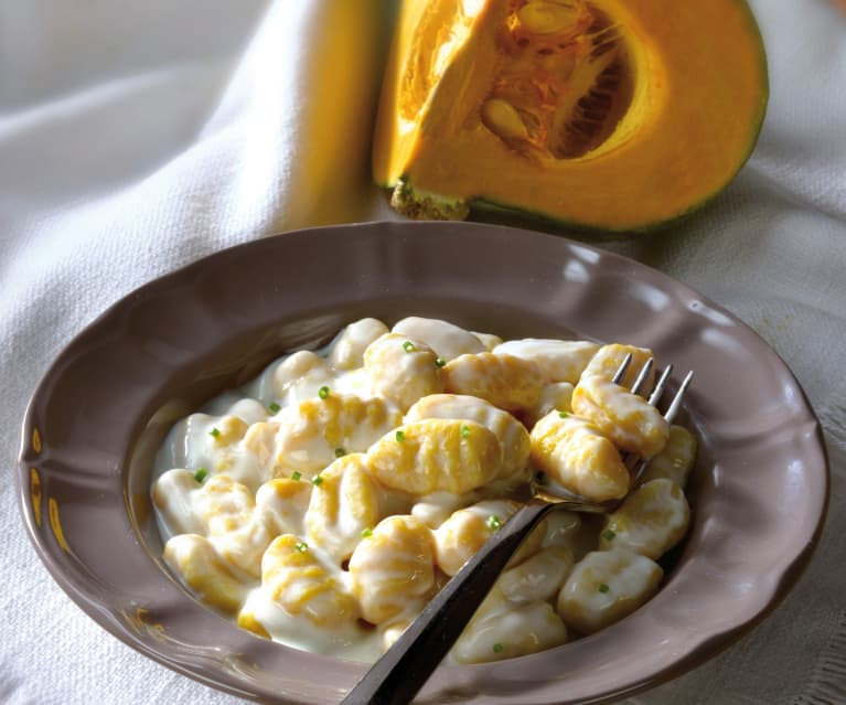 Ñoquis de calabaza al queso taleggio