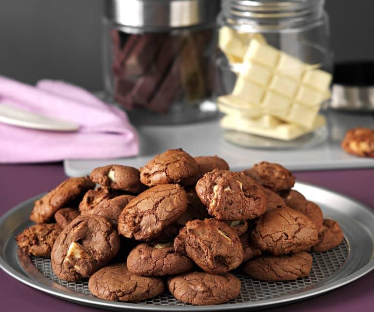 Galletas de leche condensada y dos chocolates