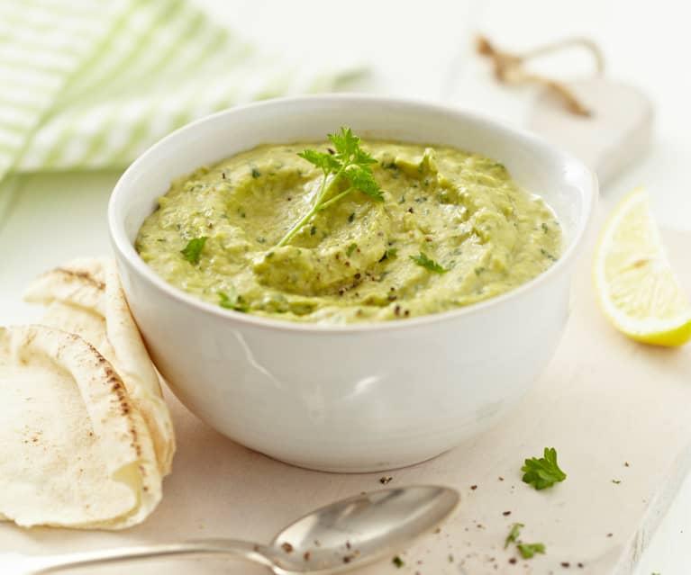 Hummus aus dicken Bohnen