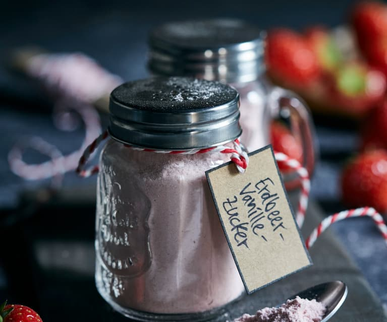 Erdbeer-Vanille-Zucker