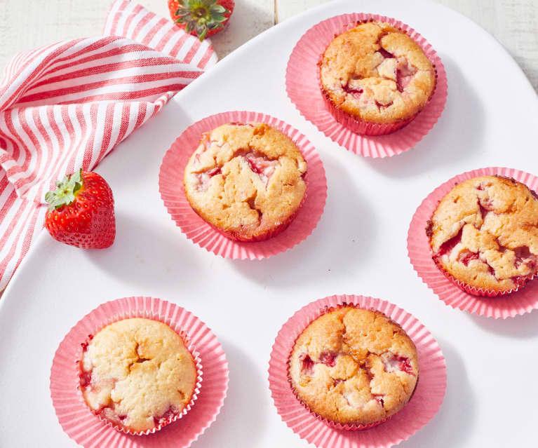 Kokos-Erdbeer-Muffins