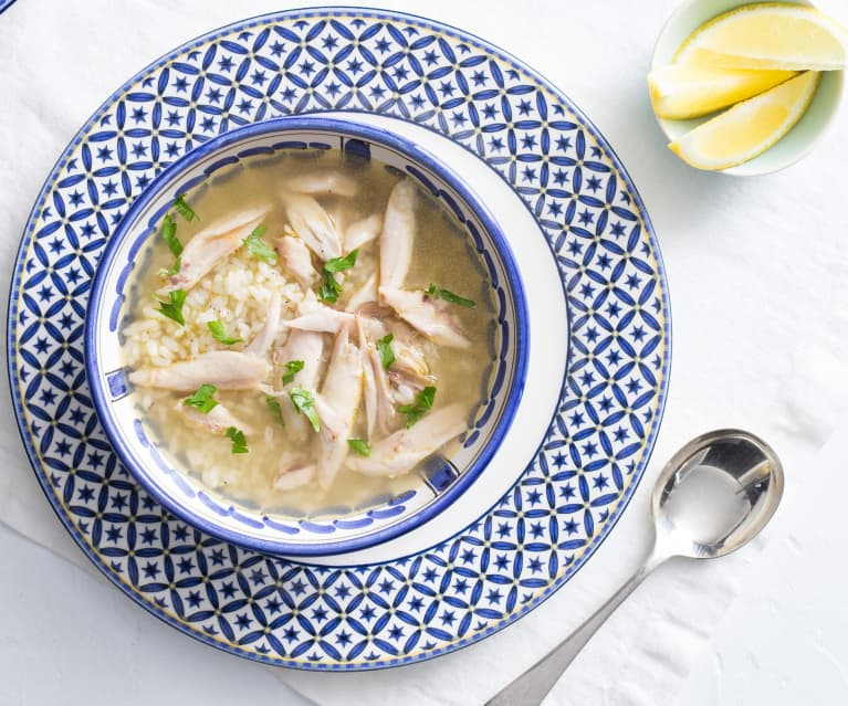 Avgolemono (chicken soup with egg and lemon)