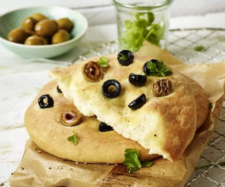 Focacce mit Oliven