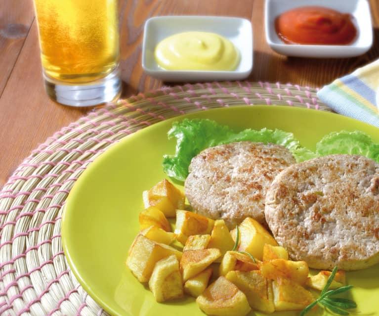 Burger di tacchino, melanzane e ricotta