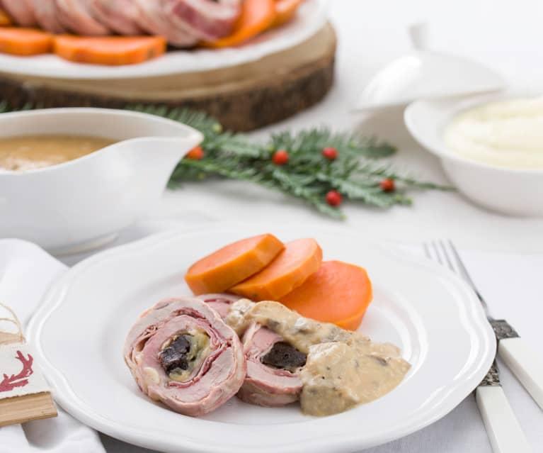 Milhojas de ibéricos con salsa de membrillo