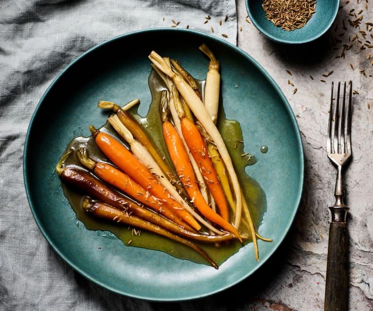 Glazed carrots with honey