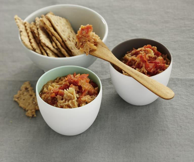 Artischocken-Tomaten-Dip