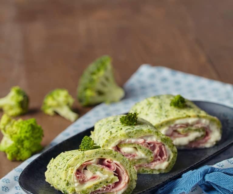 Rotoli di broccoli con squacquerone