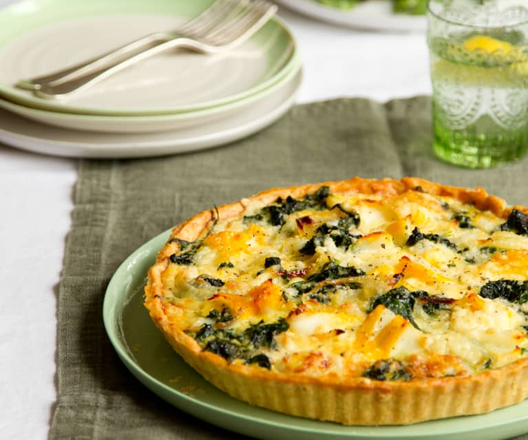 Torta salata di merluzzo e spinaci