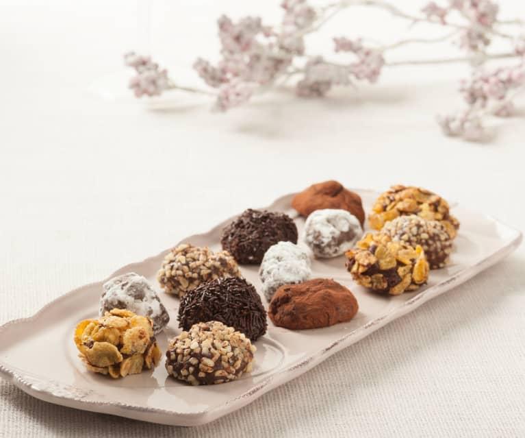 Rocas de chocolate heladas