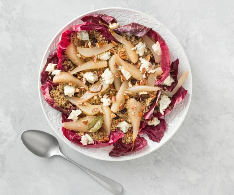 Pear and burghul salad