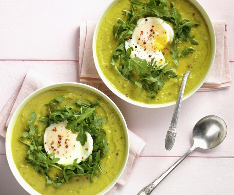 Sweet Pea and Zucchini Soup