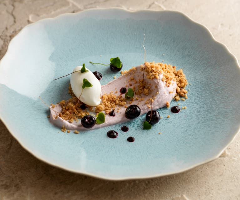 Blueberry Cheesecake, Yoghurt Sorbet